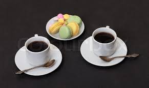 two coffee cups with coffee. Perfect Coffee To Two Coffee Cups With N