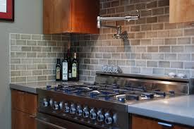 Elegant Kitchen Style with Gray Subway Tile Kitchen Backsplash