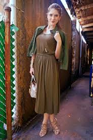 Army Green Dress Outfit Images