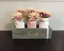 mason jar decor, fall centerpiece, mantle decor, planter box, wedding table,