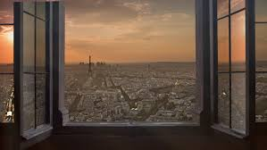 open window at night. Brilliant Open Paris Skyline Seen From An Vidos De Stock 100  Libres Droit 8852560   Shutterstock Intended Open Window At Night