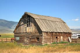 Old Wooden Barn in Pray, Montana