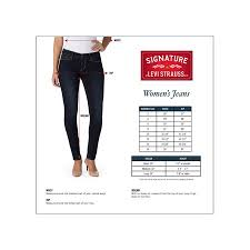 Levis Size Chart For Women S Jeans Signature By Levi Strauss Co Womens Modern Bootcut Jeans