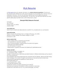 Beautiful Resume Examples Format Mla Resume Format