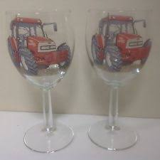 mccormick tractor mccormick tractor 2 large wine glasses
