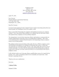Cover Letter For Computer Science Sample Cover Letter For Internship Computer Science Rome