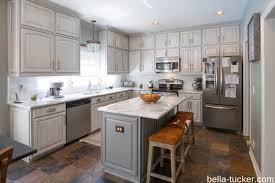 gray cabinets marble countertops