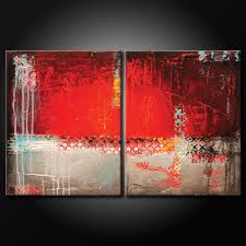 red black and white abstract painting 3