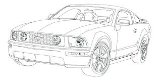 mustang coloring pictures pages line art by cobra co