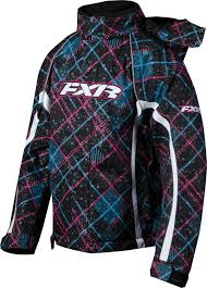 Fxr Youth Curvy Plaid Snowmobile Jacket Sizes 10 16