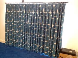 closed 1pair 3width blackout lining double pleat curtains
