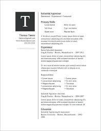 Resume Template Download Microsoft Word