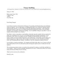 Senior Accountant Cover Letter Accounting Cover Letter For