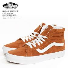 nisky the vans vans sk8 hi reissue pig suede leather brown vn0a2xsbu5k lady s men sneakers shoes shoes skating casual fashion street regular article