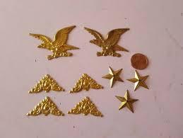 miniature dollhouse brass wall decor eagle star corner bracket patriotic america