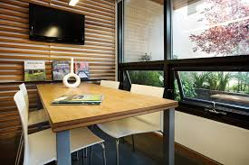 wall mounted home office. Denver Wood Slat Wall With Leather Dining Room Chairs Home Office Modern And Wall-mounted Mounted S