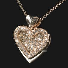 18k rose gold gf made with swarovski crystal round pendant necklace elegant