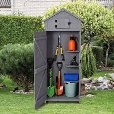 outsunny garden shed vertical utility 3