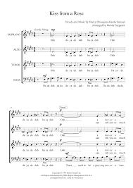 Kiss from a Rose (arr. Wendy Sergeant) Sheet Music   Seal   SATB Choir