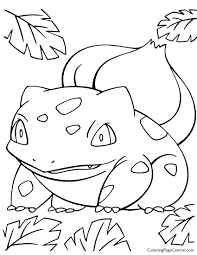 Small Picture Pokemon Bulbasaur Coloring Page 01 Coloring Page Central