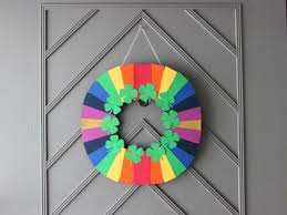 how to make a fast and easy st patrick s day paper wreath how step 13