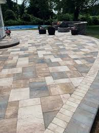 diy stone patio stone patio designs