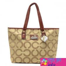 spain coach legacy logo in signature large khaki totes 629ca cf18d