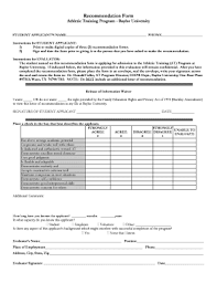 baylor letter of recommendation what is on the baylor online recommendation form fill online