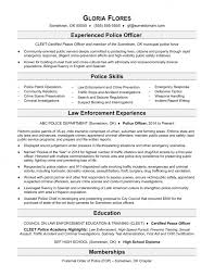 Law Enforcement Resume Objective Impressive Excellent Police Resume Examples Templates No Experience Law