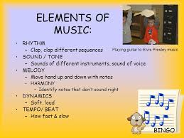 Although the exact definition of music varies widely even in the west, music contains melody, harmony, rhythm, timbre, pitch, silence, and form or structure. Creative Movement Music Ppt Video Online Download