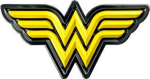 Wonder Woman - Wonder Woman Logo Yellow and Chrome Premium Fan ...