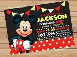 mickey mouse party invitation mickey mouse birthday party invitation personalized 1st 2nd