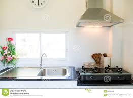 Modern Kitchen Interiors Close Up Of The Gas Stove In Kitchen Room Modern Kitchen Interior