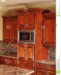 Dark Wood Cabinets In Kitchen Luxury Home Dark Wood Kitchen Cabinet Stock Photo Image 11053510