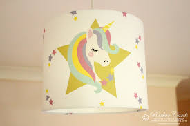 Unicorn Stars Lampshade Girls Bedroom Nursery Lampshade