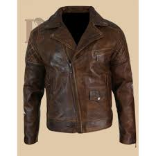 men s vintage biker leather jacket dark brown distressed leather jacket