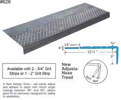 exterior stair treads and nosings. #rst4- 626 rubber stair tread - for steps with return angle exterior treads and nosings