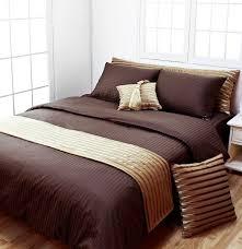 DARK BROWN STRIPE HOTEL COLLECTION DUVET COVER SET - Duvet Cover ... & DARK BROWN STRIPE HOTEL COLLECTION DUVET COVER SET - Duvet Cover Sets -  Bedding | Blooming Adamdwight.com