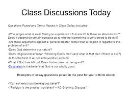 the problem of evil part one philosophy and ethics b ppt  25 class discussions