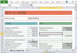 lease vs buy calculator excel car buy vs lease calculator for excel