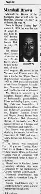 Obituary - Marshall N Brown - Newspapers.com