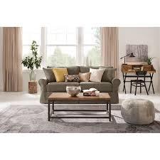 home decorators collection mayfair classic smoke twill fabric sofa