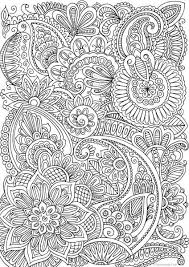 Calming Doodle Pattern Printable Adult Coloring Pages From Favoreads