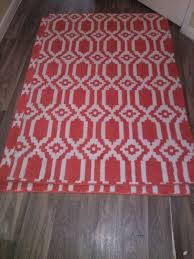 area rug bright red white 40 x 60 for in austin tx offerup