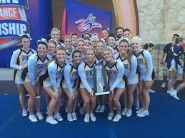 All girl college cheerleading