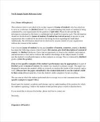 faculty letter of recommendation sample recommendation letters 8 examples in pdf word