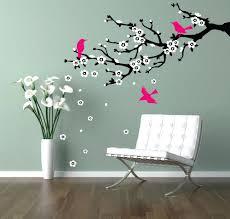 cherry blossom tree vinyl wall decal wall decal cherry branch cherry blossom  branch flowering zoom wall