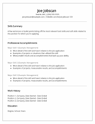Functional Resume Formats Template 2 Achievable But Example