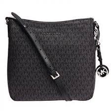 Michael Kors Jet Set Monogram Crossbody Bag for Women - Black