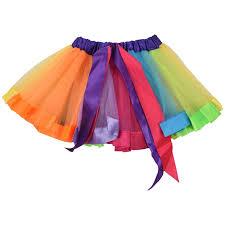 Handmade Skirt Size Chart Details About Kids Lovely Handmade Colorful Tutu Skirt Girls Rainbow Tulle Tutu Mini Skir N7y9